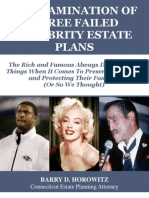 An Examination of Three Failed Celebrity Estate Plans