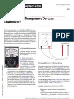 Sinelectronic.blogspot.com Cara Menguji Komponen Dengan Multimeter