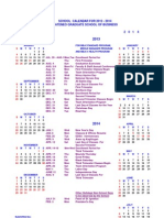 AGSB School Calendar for 1 Year Standard MBA