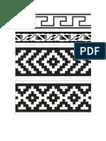 Diseño mapuche Guardas