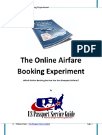 Online Airfare Booking Experiment - Which Online Booking Agent Has the Cheapest Fares