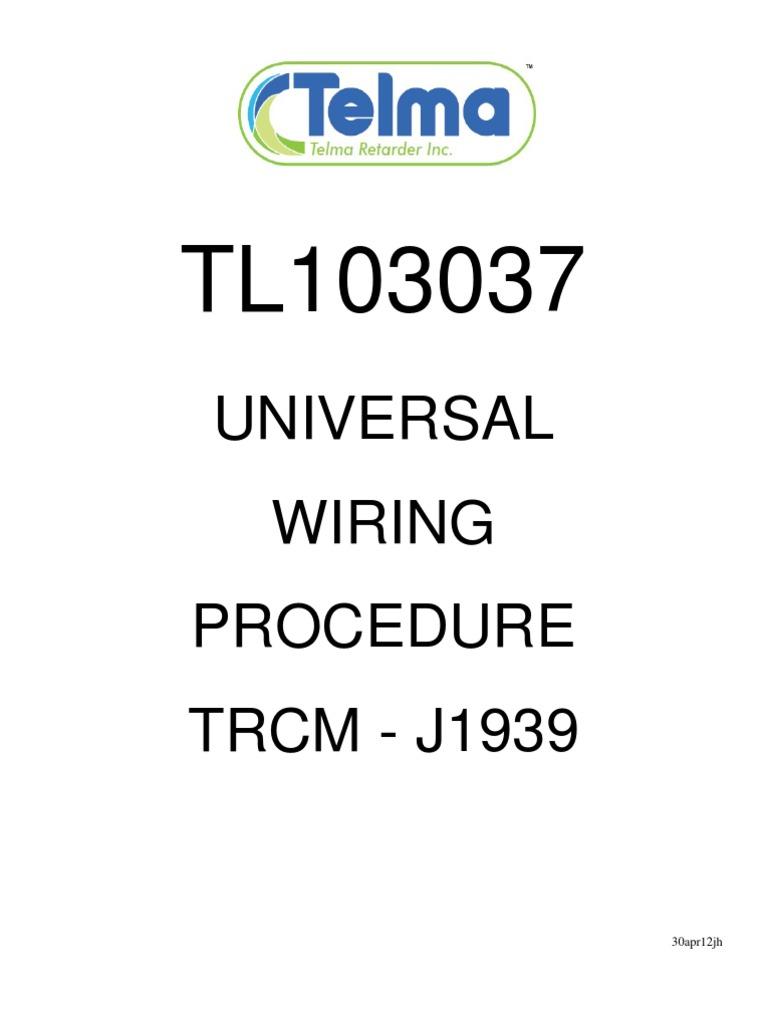 tl103037 universal wiring procedure j1939 electrical connector rh scribd com