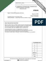 paper 4 A-Levels