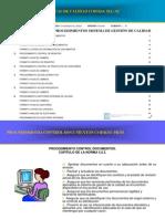 Procedimientos Generales Obligatorios Gestion Calidad ISO 9001