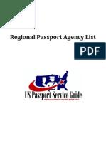 List of U.S. Passport Agency Locations