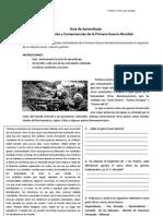 Guía de Aprendizaje Primera Guerra Mundial