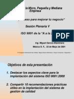 Implementacion de La Gestion Calidad 9001 en La PYME Presentacion