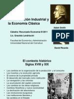 f. ECONOMIA III 2013 LA PRIMERA REVOLUCION INDUSTRIAL Y LA ESCUELA CLASICfA.ppt