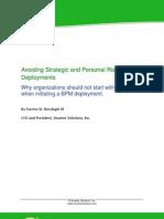 Avoid Risk in BPM Deployments1