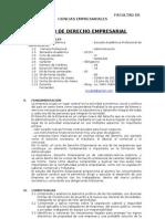 SÍLABO DE DERECHO EMPRESARIAL 2013-I