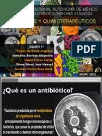 Antibioticos y quimioterapeuticos, resistencia, mecanismos de acción