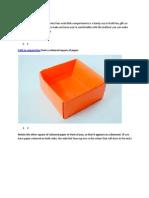 Origami Box Divider