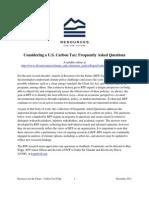 Carbon Tax FAQs