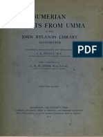 C. L. (Charles Lees) Bedale - 1879-1919 - Sumerian Tablets From Umma - In the John Rylands Library - Manchester