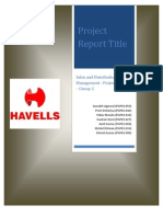 SDM Project Overview_Group 2_Havells Housewires