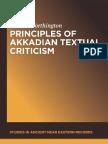 Principles of Akkadian Textual Criticism