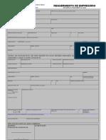 Requerimento de Empresario 2011