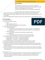 IB Economics SL12 - Demand-side and Supply-side Policies
