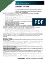 IB Economics SL17 - Economic Development Topics