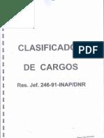 Clasificador de Cargos Resolucion-Jefatural 246-91-INAP-DNR