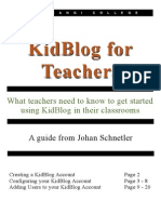 Kidblog User Guide