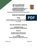 Tesis. Comportamiento Del Sangrado de Tubo Digestivo Alto en Urgencias UMAE.