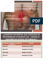 Eosinofilia esofagica PRESENTACION