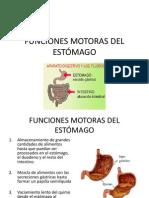 FUNCIONES MOTORAS DEL ESTÓMAGO