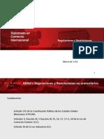 Regulaciones y Restricciones No Arancelarias LMJ