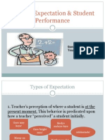 Teacher Expectation Student Performance