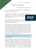 O Planejamento Em Educacao Marcelo Soares