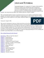 C Programming Language Tutorial Pdf