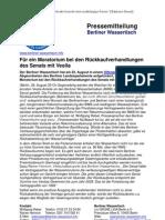 Pressemitteilung vom Berliner Wassertisch vom 26. August 2013