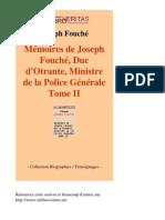 12082-JOSEPH FOUCHE-Memoires de Joseph Fouche Duc Dotrante Ministre de La Police Generale Tome II-[InLibroVeritas.net]