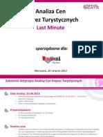 Analiza Cen Imprez Turystycznych (26.08.13)
