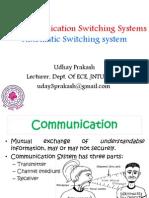 Telecommunication Switching System Part 01 Udhay Prakash Jntuh