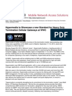 Hypermedia Systems - Hypermedia to Showcase a New Standard for Heavy Duty Termination Cellular Gateways at WWC
