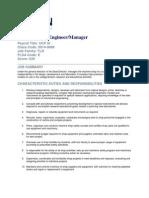 Roles n Responsibilities Machine Shop Engineer