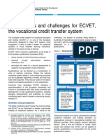 Opportunities and Challenges for the European Vocational Credit Transfer System