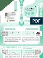 CAMON Alicante. Programación Septiembre 2013. Obra Social. Caja Mediterráneo
