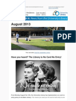Library Newsletter August 2013