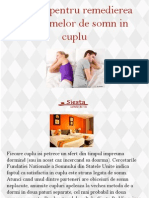 Sfaturi pentru remedierea problemelor de somn in cuplu