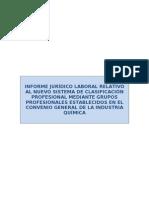 Informe Sobre Nuevo Sistema de Grupos Profesionales Sector Quimica