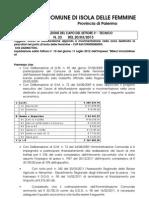Scioglimento Consiglio Comunale Isola Porto Isola Billeci Costruzioni s.r.l.determina Del 3 Settore n.23