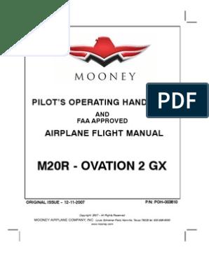Mooney M20R Ovation 2 GX - Pilot's Operating Handbook and Airplane