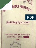Rajpur Sonarpur Municipality Building Bye Law 2007