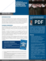 Certificate in Administrative & Workplace Investigation Dubai UAE