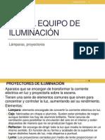 ut3. EL EQUIPO DE ILUMINACIÓN (ppt)