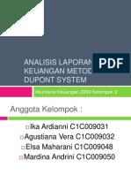 Analisis Laporan Keuangan Metode Dupont System