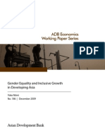 Gender Equality and Inclusive Growth in Developing Asia